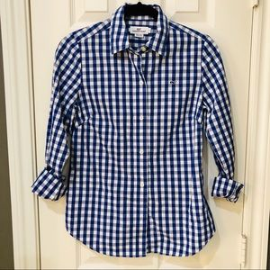 Vineyard Vines Button Up LIKE NEW Blue + White 0